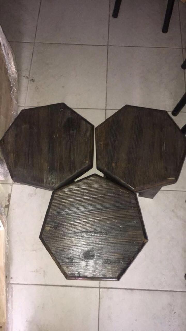 Bàn ghế cà phê giả sơ dừa