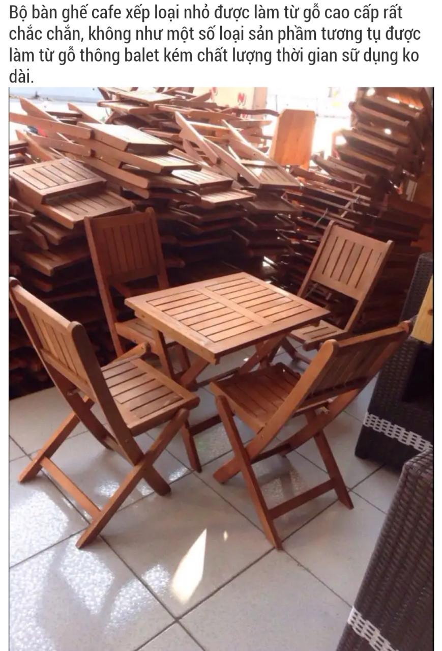 bộ bàn ghế gỗ xếp lớn