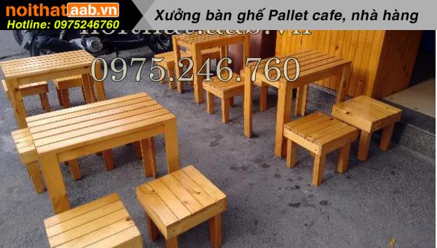 Bàn ghế gỗ ghế đẩu đơn giản