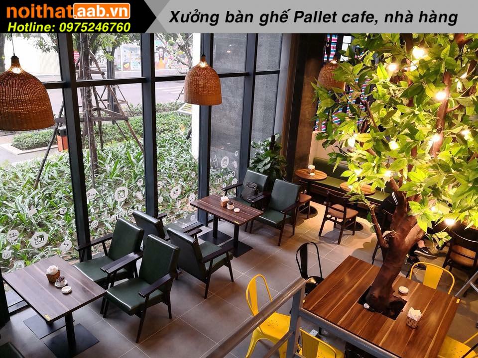 50 mẫu bàn ghế quán cafe bằng gỗ đẹp nhất