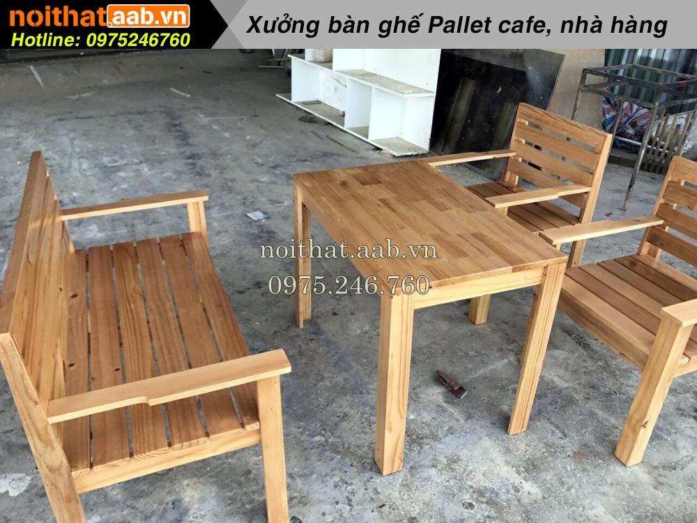 Xưởng chuyên sản xuất bàn ghế gỗ pallet HCM